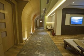 health-spa-tiled-hallway