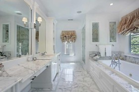 speckled-marble-tiled-bathroom